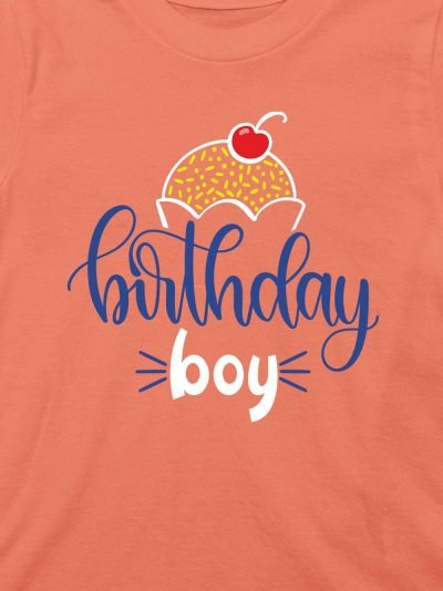 close up of Kids Birthday Boy T-shirt design