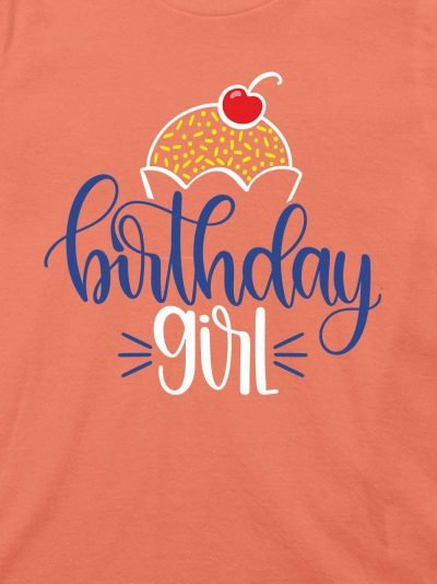close up of Kids Birthday Girl T-shirt design