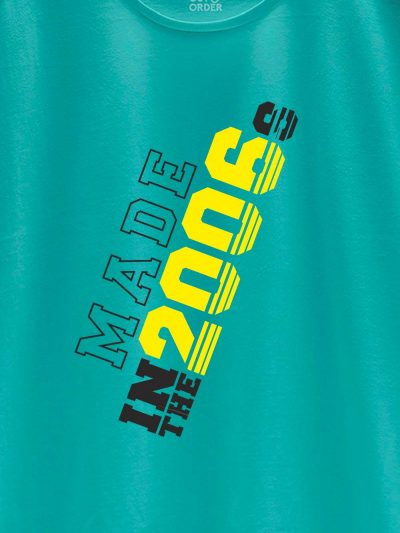 close up of Made in Year Men's Birthday T-shirt design
