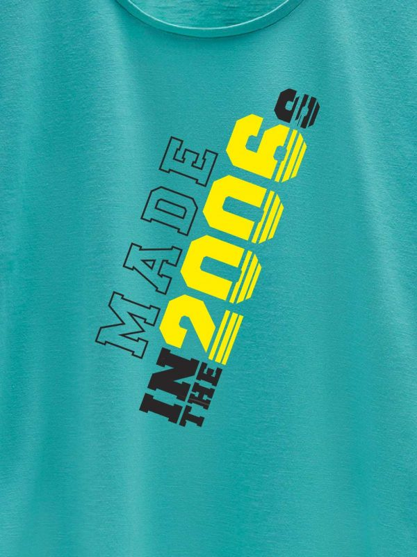 close up of Made in Year Women's Birthday T-shirt design