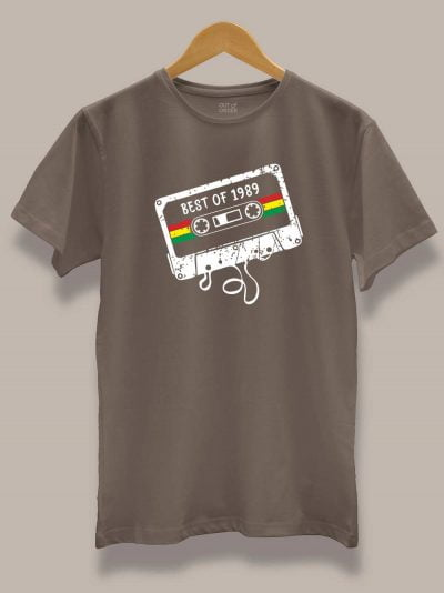 Buy Mixed Tape Men's Birthday T-shirt displayed on a hanger
