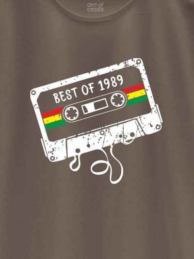 close up of Mixed Tape Men's Birthday T-shirt design