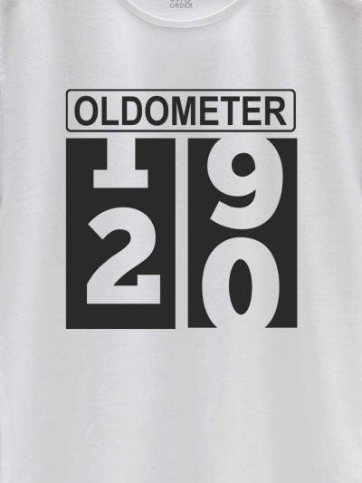 close up of Oldometer Men's Birthday T-shirt design