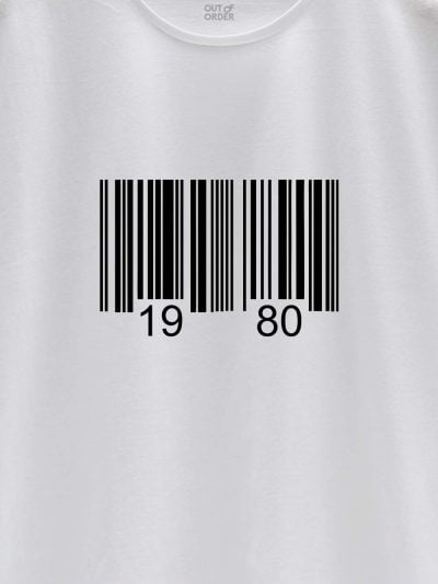 close up of Barcode Birthday T-shirt design