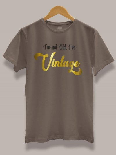 buy I am Vintage Men's T-shirt displayed on a hanger