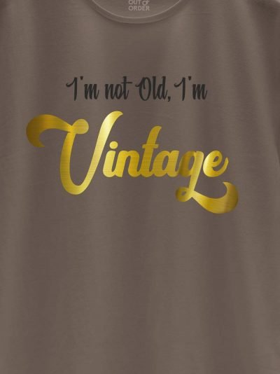 close up of I am Vintage Men's T-shirt design