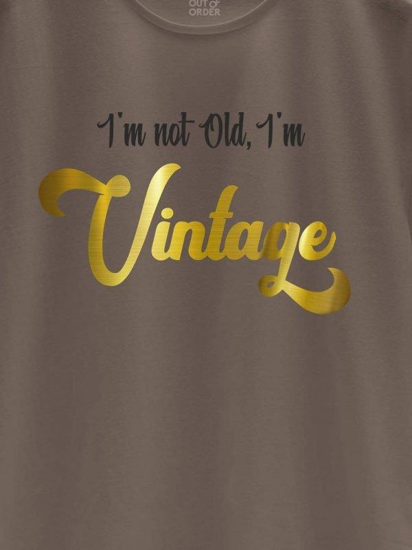 close up of I am Vintage Men's T-shirt design