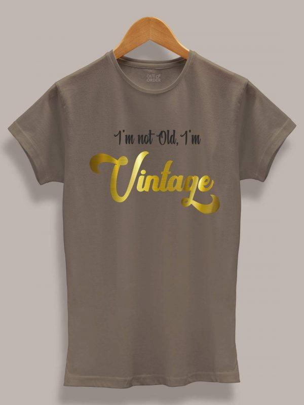 Buy I am Vintage Women's t-shirt displayed on a hanger