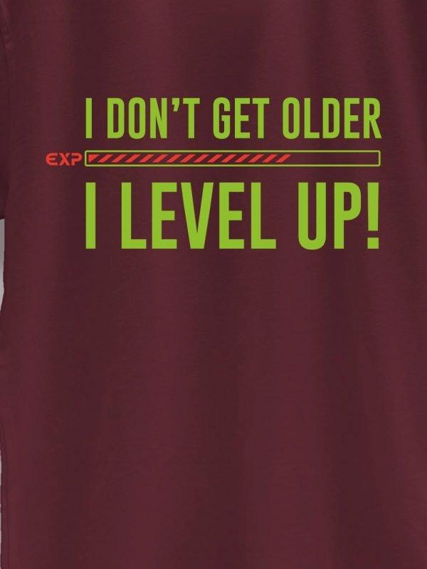 close of I Level Up Birthday T-shirt design