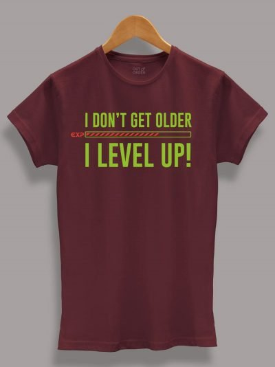 Buy I level Up Women's Birthday T-shirt displayed on a hanger