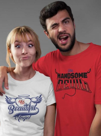Buy Angel and Devil Couple T-shirt