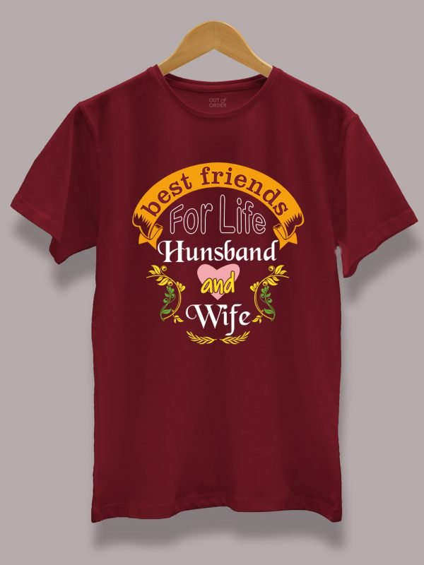 Best Friend for Life Couple T-shirt for men