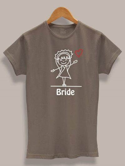 Bride and Groom Cartoon Couple Tees for women