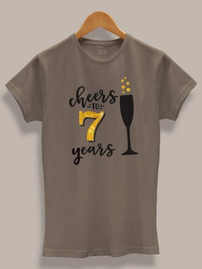 cheers to many years anniversary t-shirt for women