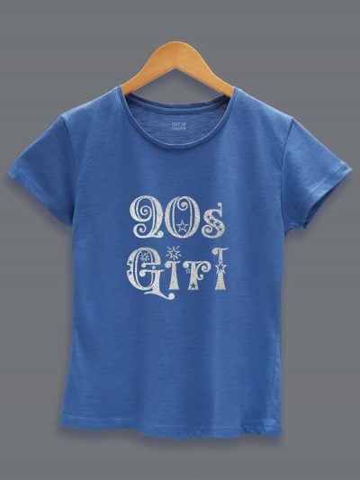 Glitter Print 90's Birthday Girl T-shirt