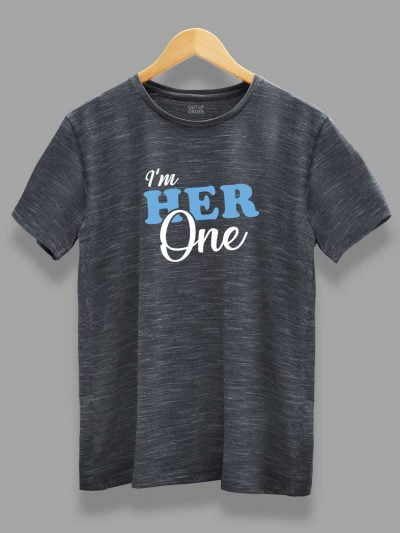 Her One His Only Couple T-shirt for men