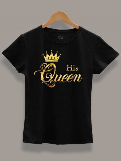 Her King His Queen Couples T-shirt for women