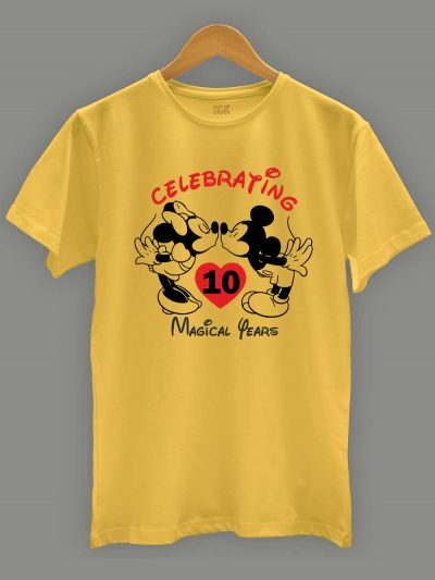 Mickey Minnie Anniversary T-shirt for men