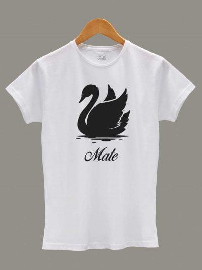 Soul Mate Swan Couple T-shirt for women