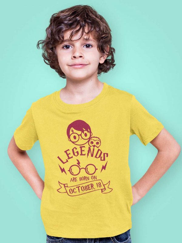 Boy wearing Harry Potter Kid's Birthday T-shirt, available for sale