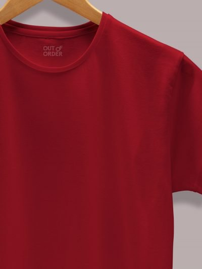 Women's Maroon T-shirt close up