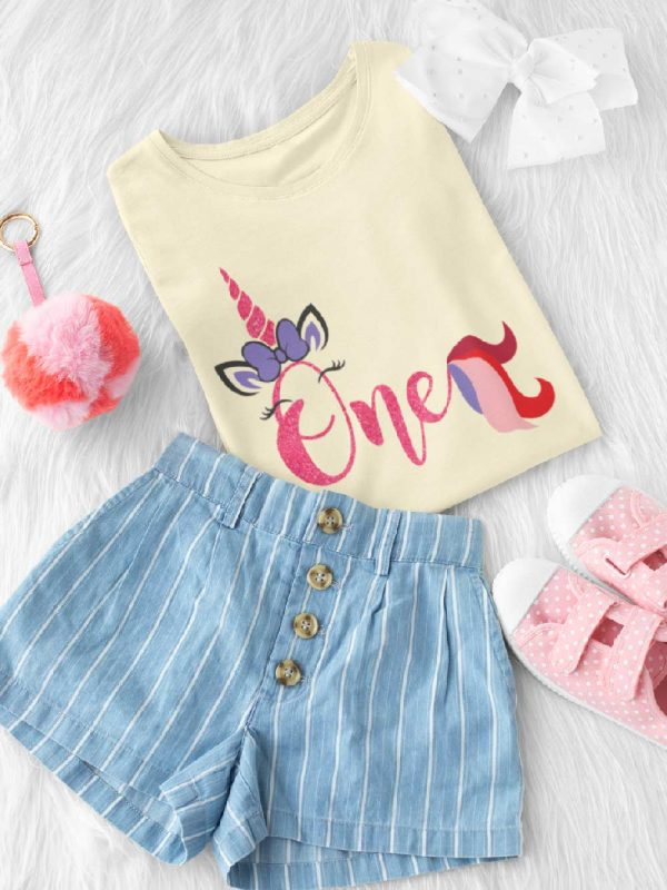 First Birthday T-shirt for Girls for sale online