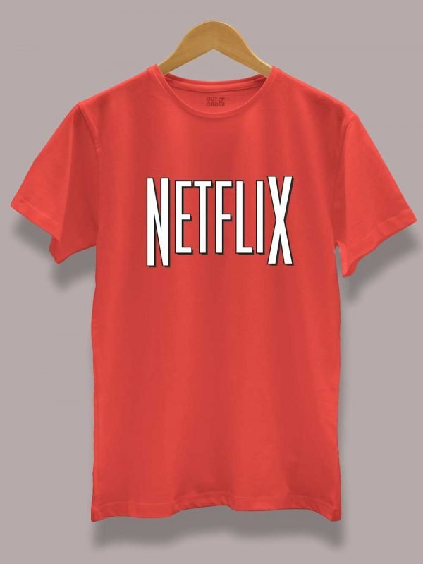 Buy Netflix and Chill T-shirt for Couple zoom
