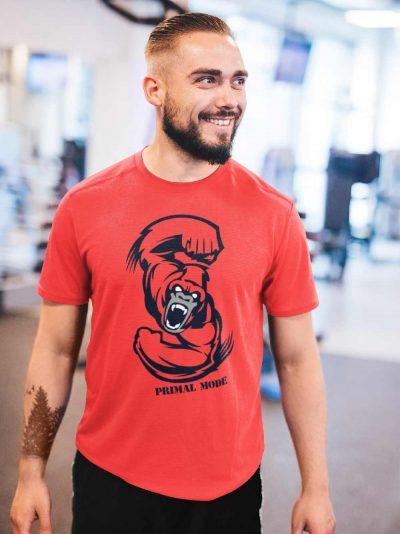 Man wearing Primal Mode Gym T-shirt