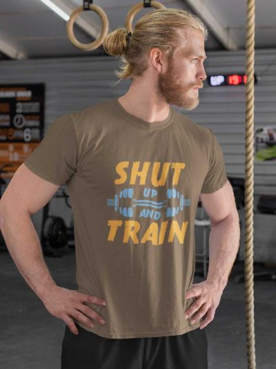 Shut up and train gym t-shirt for Men