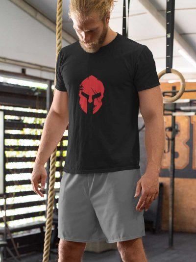 Man wearing Spartan Armor Gym T-shirt